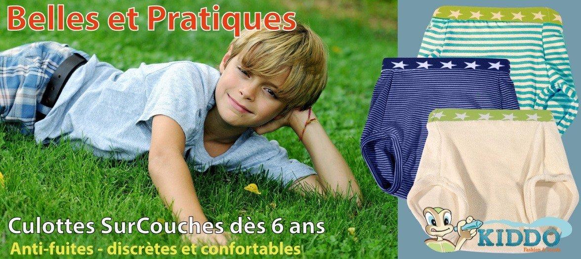 Culottes Surcouches pour éviter les fuites et cacher les couches de votre enfant énurétique ou incontinent