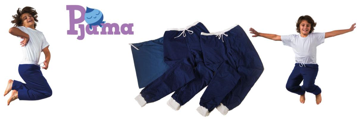 Pyjama enfant et adulte contre le pipi au lit et les fuites urinaires nocturnes en tout discrétion.