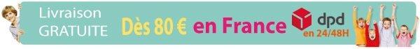 Livraison gratuite en 24h dans tous les points relais en France dès 80€ d'achat