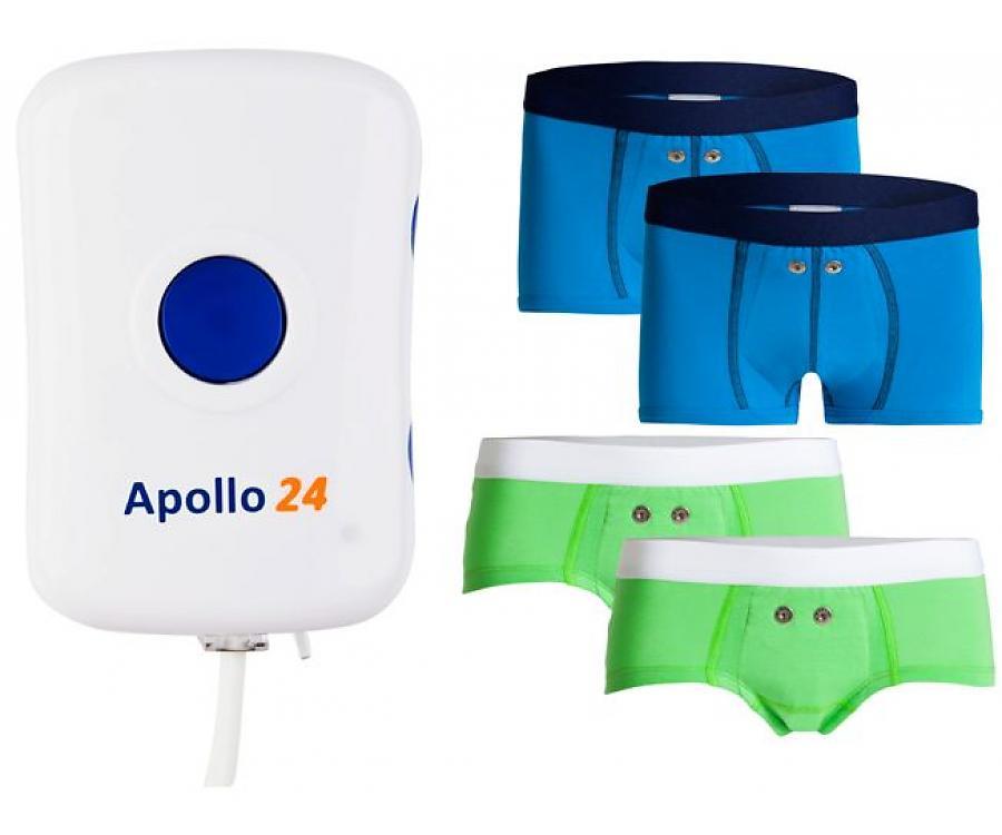 Alarme Pipi Stop Uriflex Apollo 24 + 2 boxers ou 2 shortys