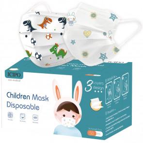 Masques jetables Enfant Imprimés UNS2 - Lot de 10 UNS2KDM10 par BED WET