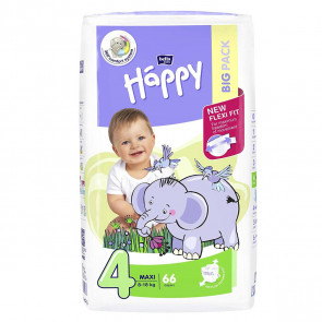 Happy Maxi (8 - 18 kg) T4 - 66 couches BB-054-LU66-008 par HAPPY