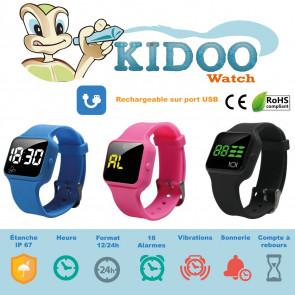 Montre Vibrante Kidoo rechargeable 16 alarmes