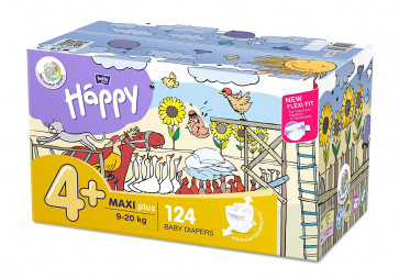 Happy Maxi Plus  (9 - 20 kg) T4+ - 124 couches BB-054-LX62-013-big par HAPPY