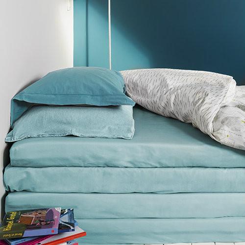 Drap housse morning blue louis le sec bed wet store for Les draps housse