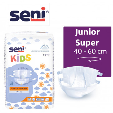 SENI Kids Junior Super +20 kg - à l'unité SE-094-JS30-G01-UNIT par SENI