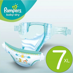 Pampers Baby-Dry 7 - à l'unité Pampers.baby-dry-7-UNIT par PAMPERS