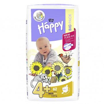 Happy Maxi Plus  (9 - 20 kg) T4+ - 62 couches BB-054-LX62-013 par HAPPY