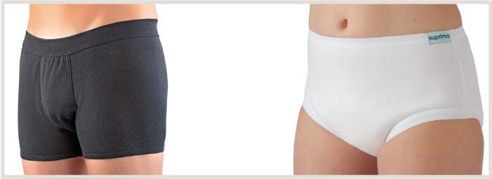 Culottes en coton doublées e PUL pour une sécurité maximale et pour éviter les fuites urinaires