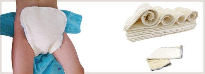 Inserts et booster pour couche lavable