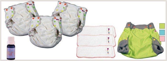 Kits de couches lavables pour bien débuter avec votre enfant
