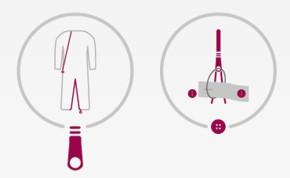 Fermeture par Zip dans le dos et dans l'entrejambe avec système de sécurité sur les jambes